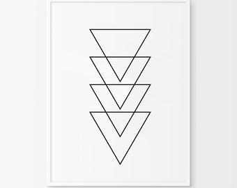 Geometric Art, Black and White, Abstract Prints, Geometric Wall Art, Minimalist Art, Simple Prints, Abstract Wall Art, Printable Art, Prints