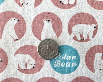 POLAR Bear Pink Fabric 1 FQ