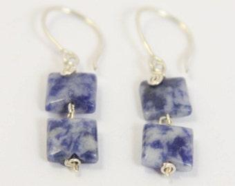 Sodalite - 925 Sterling Silver Earring