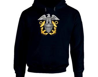 Us - Navy - Crest Hood Hoodie
