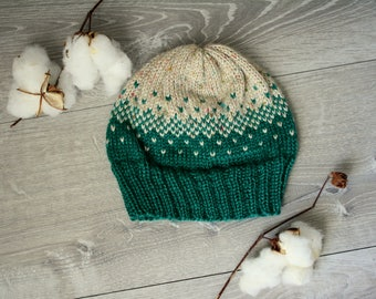 Winter Green Knitted Beanie