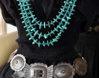 """Large Exquisite Old Early Fred Harvey Era Navajo HeavySterling Silver Concho Belt 467 Grams 3"""" Conchos"""