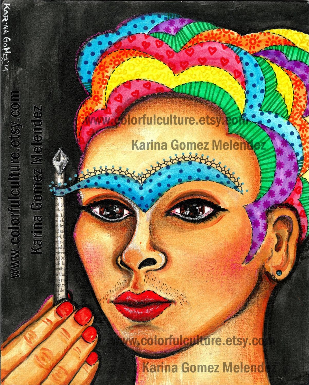 Rebelde las cejas Cejas Rebeldes Frida Kahlo arte