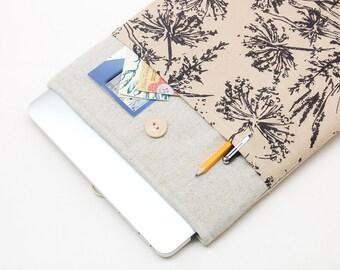 30% OFF SALE MacBook Pro Case with flowers pocket. Case for MacBook 13 Pro Retina. Sleeve for MacBook 13 Air / MacBook 13 Pro Retina.