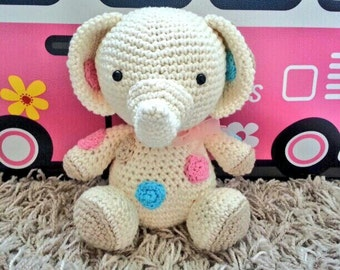 Crochet handmade with great detail and love amigurumi elephant