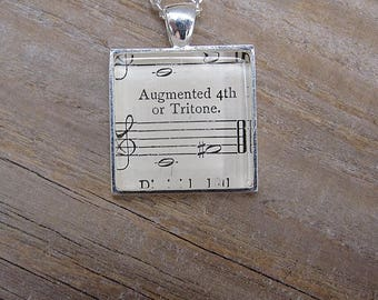 """Musician Necklace - """"Augmented 4th or Tritone"""" - Gift for Musician"""