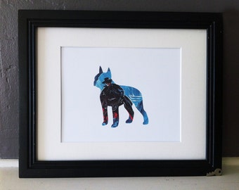 Zorro - Boston Terrier Dog Vintage Silhouette
