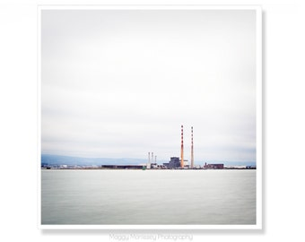 Ireland Photography, Irish Gift, Industrial Art, Poolbeg Towers, Poolbeg, Smokestacks, Ireland Print, Dublin, Made In Ireland
