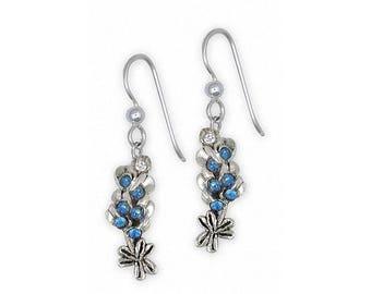 Bluebonnet Earrings Jewelry Sterling Silver Handmade Texas Wildflower Earrings BBS-FW