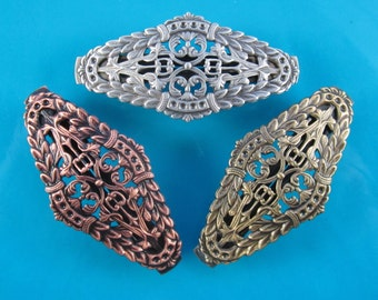 Filigree French Barrette 60mm-Hair Accessories- Hair Clips- French Clips- Small French Barrette