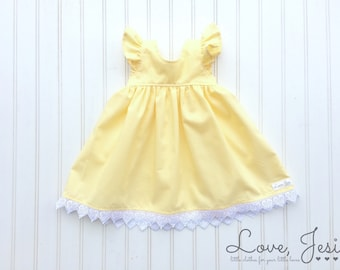 Little Girls Dress, Girls Yellow Dress, Toddler Dresses, Baby Girls Dresses, Baby Girl Easter Dress, Toddler Easter Dress, Flower Girl Dress