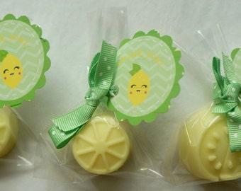 25 LEMON SOAPS {Favors} - Lemoade Party, Lemon Party Favors Birthday favors,  Spring Party, Wedding Bridal