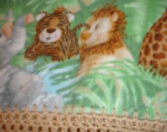 Jungle Babies Fleece Blanket