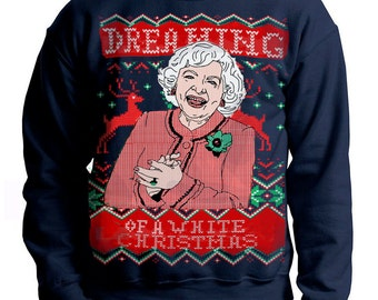 Ugly Christmas sweater -- Dreaming of a White Christmas --- pullover  sweatshirt -- s m l xl xxl