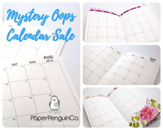 Oops 1 Insert 2018 Monthly Calendar Inserts Mystery Oops Grab Bag Sale 1 Midori Insert Random Oops Up to 75% Off 2018 Monthly Calendar