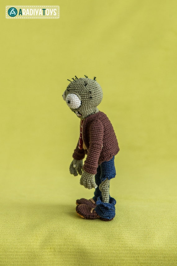 Crochet Pattern Of Zombie From Plants Vs Zombies Amigurumi