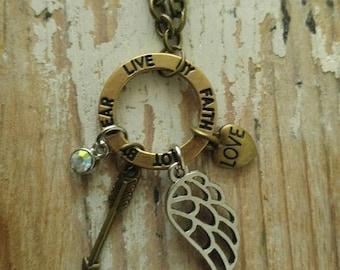 Love By Faith Charm Necklace