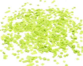 Green Square Tissue Paper Confetti