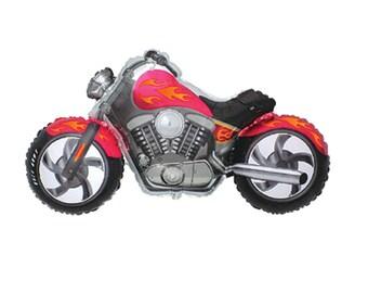 "Motorcycle Balloon 45"" Bike Balloon Black Yellow Large Birthday Party Decor Boy Man Helium Motorcycle Grand Prix"