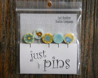 Mercerie : Quelques épingles - limonade jaune JP104Y - épinglettes décoratives