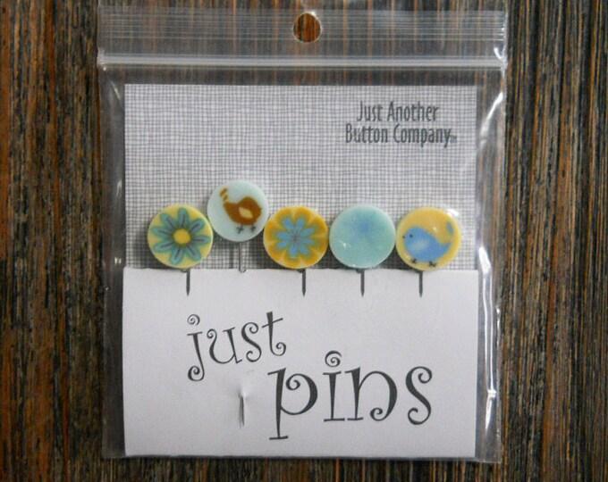 Notions: Just Pins - Yellow Lemonade JP104Y - Decorative Pins