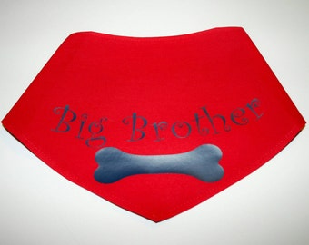 Dog BANDANA, Custom Dog Bandana, Baby Announcement, Personalized Dog Bandana, Dog Scarf, Dog, Red, Navy, Blue, Navy Blue