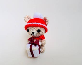 Crochet Christmas Bear Amigurumi