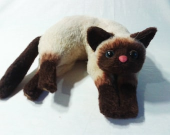 Siamese cat, crocheted cats, soft toy as a gift