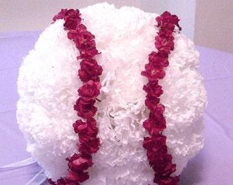 Wedding Flower Ball, Baseball Flower Ball, Baseball Bouquet, Baseball Wedding Theme, Sports Flowers