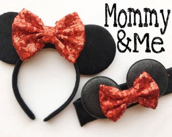 NEW plain Mommy and Me Ears sets