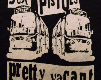 SEX PISTOLS pretty vacant patch PUNK rock sid vicious Free Shipping