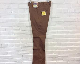 Vintage 1960s 1970s NOS Western Pants, Unfinished. 34 Waist