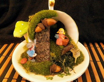 I Love You, My Deer Teacup Diorama