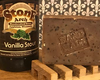 Vanilla Stout Beer Soap with Oats Vegan