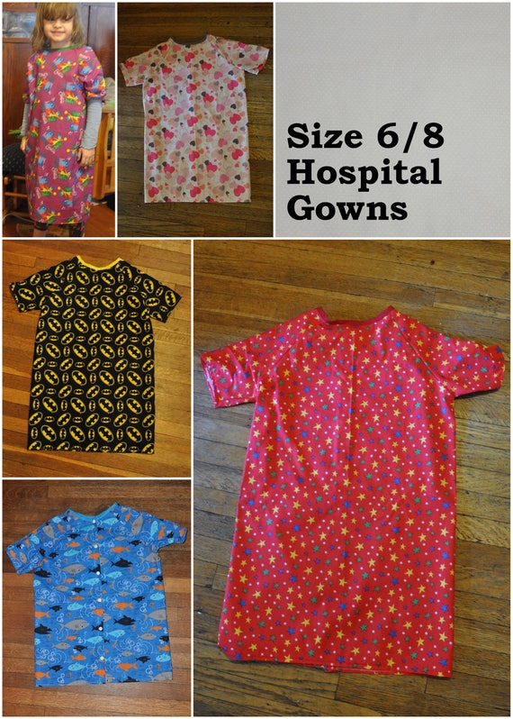 Children\'s Hospital Gown size 6/8. Inside Out. Batman.