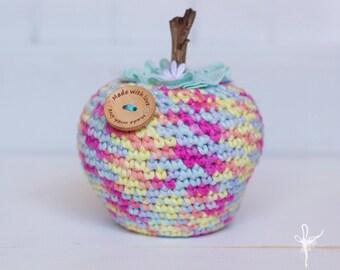 Crochet Apple, Play fruit, Amigurumi Toy