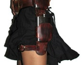 Leather Double Flask Leg ...