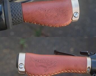 Ergonomic Italian Leather Grips Nexus Rohloff Handlebar Bicycle Bike 135mm 96mm