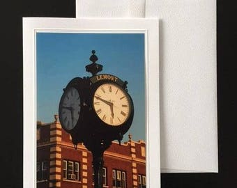 LEMONT PHOTO CARD  Blank Inside with envelope - #2