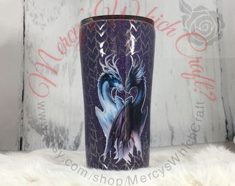 20 oz Stainless Steel Tumbler with Dragon Scales