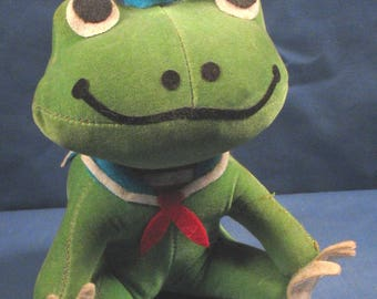 Vintage 1960s Dream Pet by R.Dakin - Green Frog in Sailor Outfit