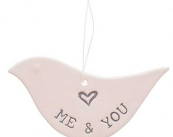 SALE!! Me & You ceramic dove