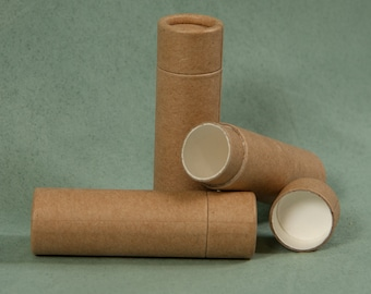 15 Cardboard Lip Balm Tubes - Eco Friendly, Recyclable & Sustainable 1/3 oz