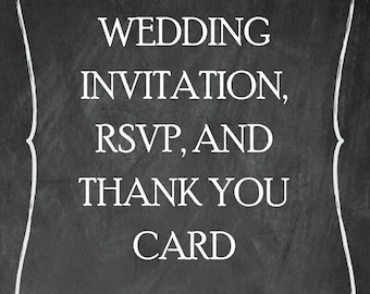 Wedding Invitation Set_ RSVP and Thank You_ Printable
