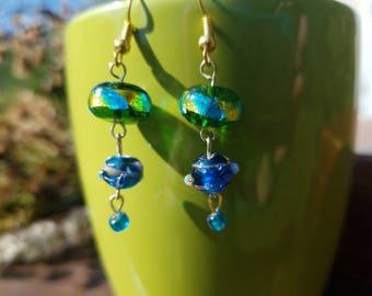 Green Lagoon Earrings