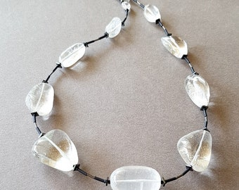 Necklace of Rock crystal.