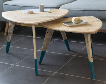 Nesting, tables tables bass wood tables low wood nesting wooden Scandinavian coffee tables, table low vintage