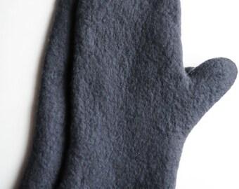 Felted men's mittens - merino wool gloves light brown mittens men winter accessories Christmas gift