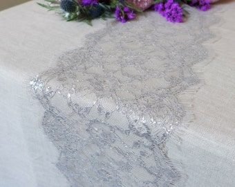Beige U0026 Silver Lace Table Runner   Perfect Lace Table Runner For Home,  Weddings, Parties And Everyday Made In The USA Many Lengths Or Custom