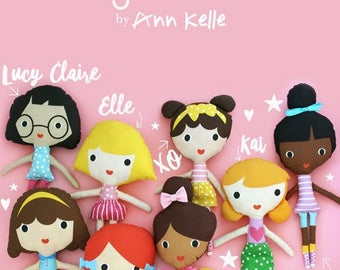 ANN KELLE GIRLFRINDS doll making panel for Lulu, Kat, Lucy Claire and Molly